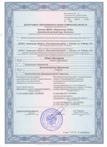 Приложение к лицензии № 3